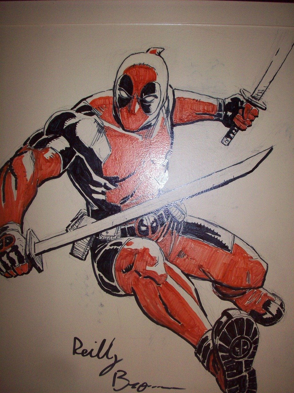 Here's a closeup of the Deadpool drawing I was talking about yesterday