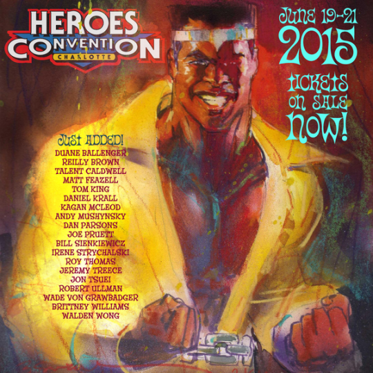 It's official, I'll be at Heroes Con June 19-21st! See you guys in Charlotte!