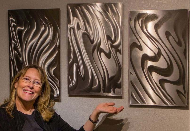 Metal works by Becky Anderso - via Daily Miner News