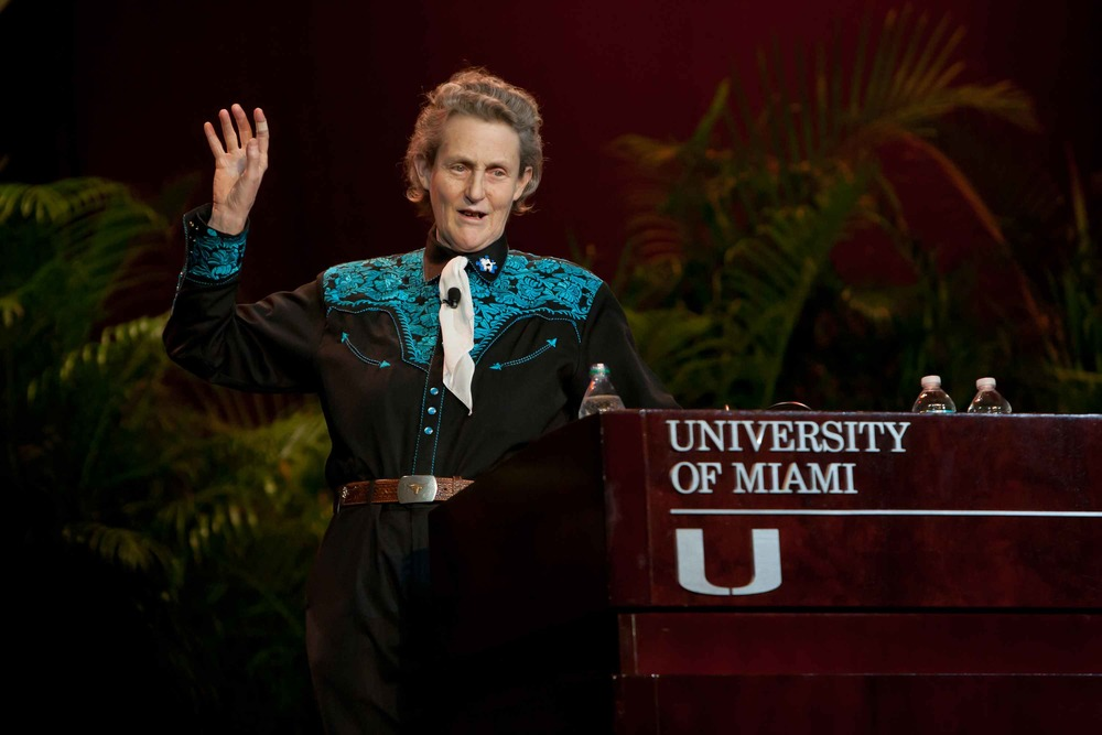 Temple Grandin speaking at the University of Miami (FL) - Image from the University of Miami