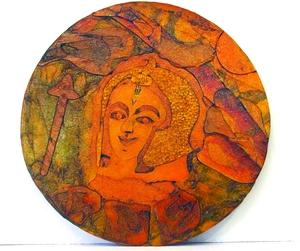 warrior woman- printing plate