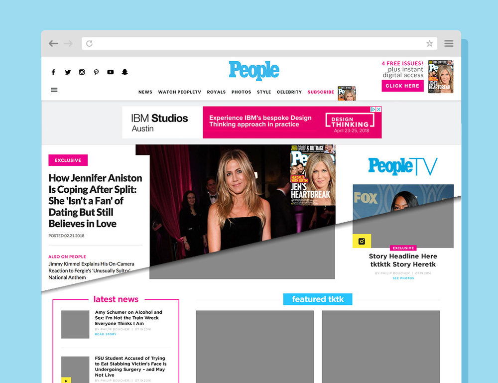 People.com Homepage Wireframes