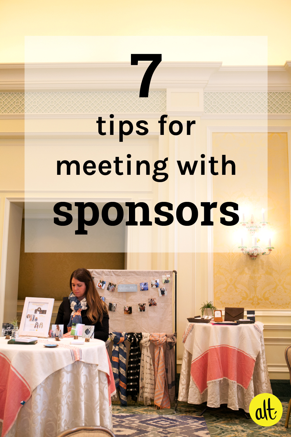 seven helpful tips for meeting with sponsors!