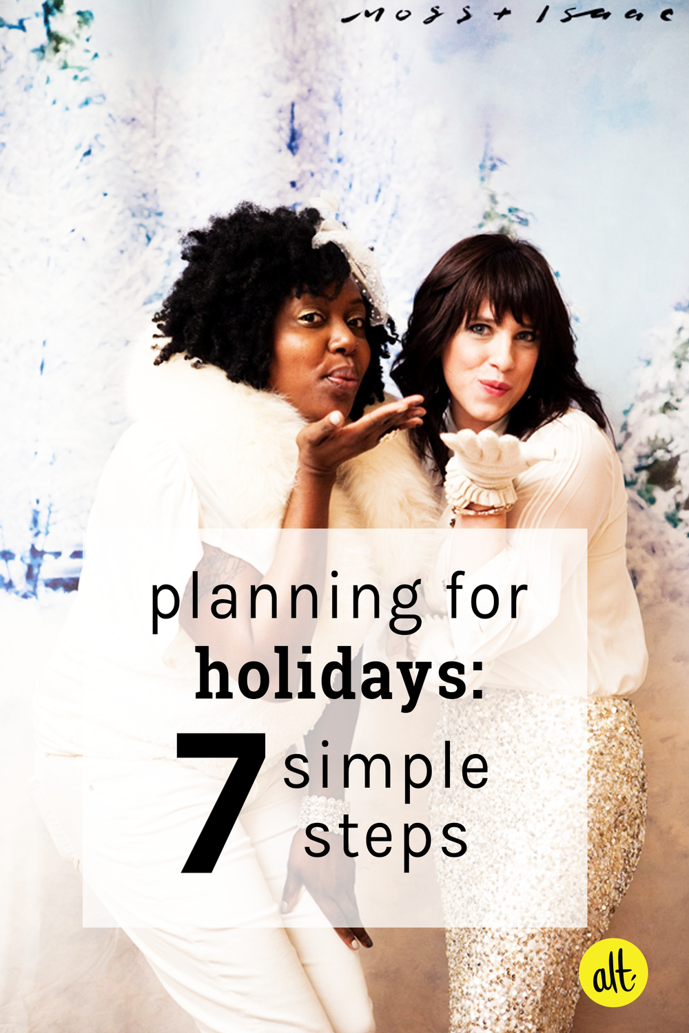 Don't let the holidays overwhelm you! Seven simple steps for navigating the holidays with ease.