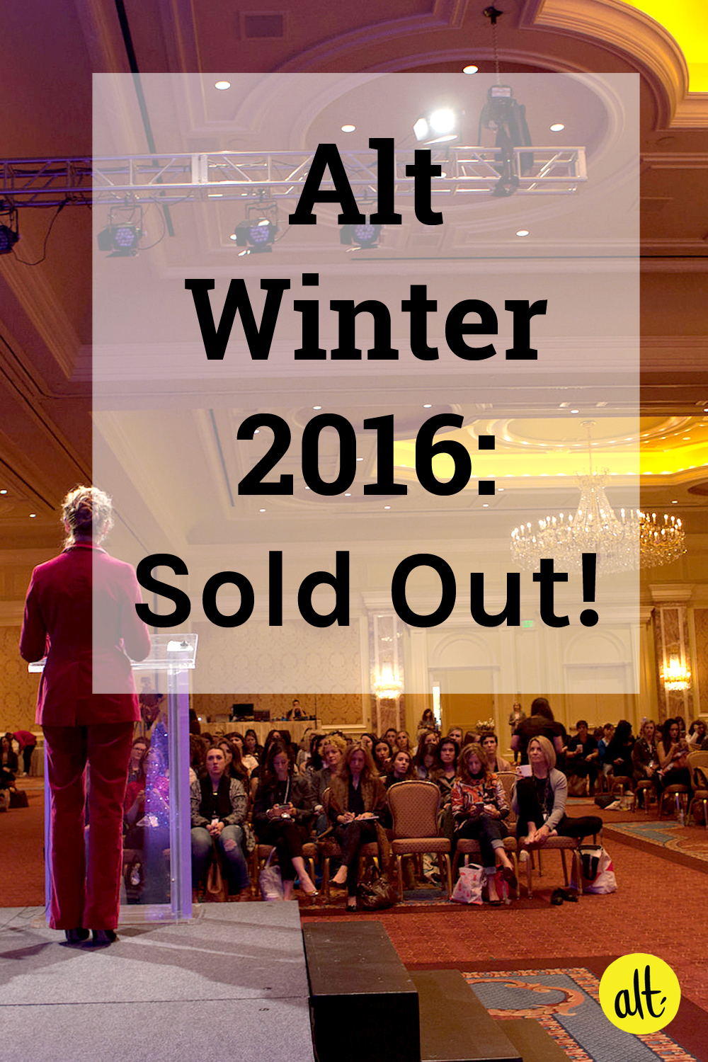 Alt Winter 2016 in SLC is officially sold out!