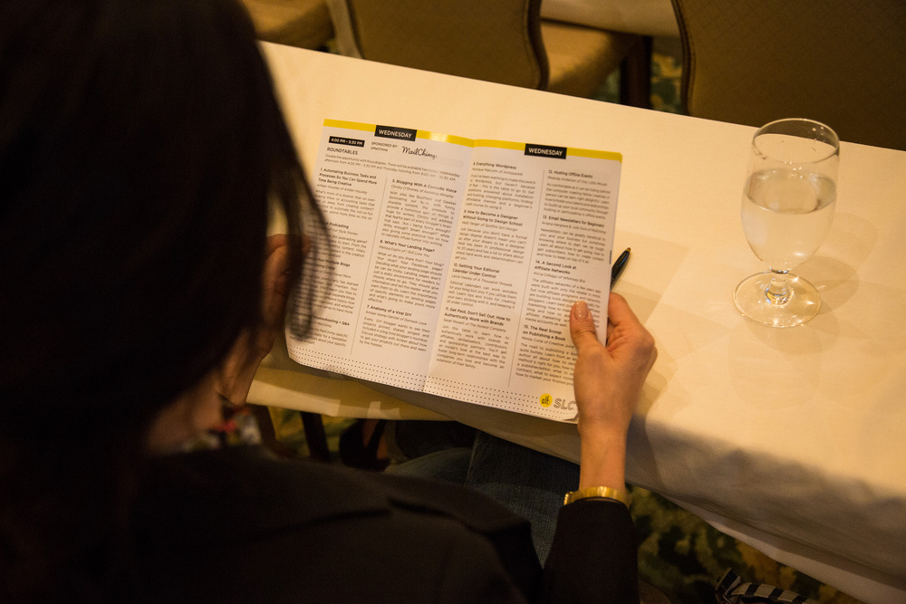 Study your printed schedule. You'll find details about when and where you can meet Alt Winter 2016 sponsors.