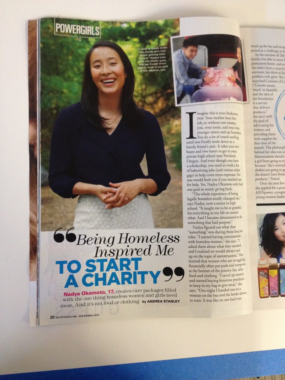 Camions of Care landed a feature in 17 magazine!