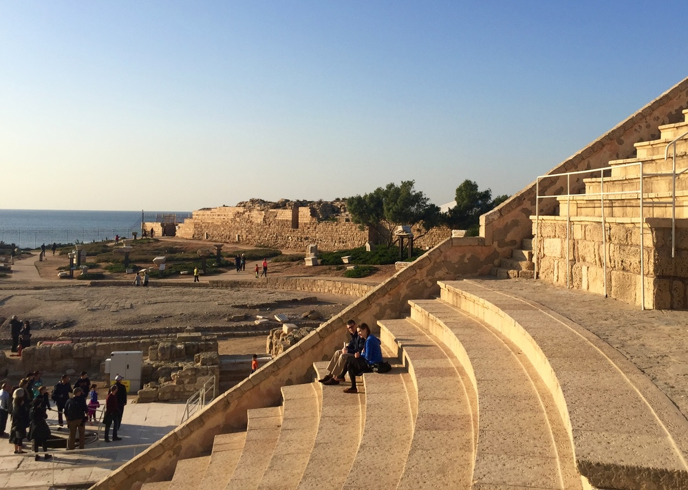 View from the amphitheater in Caesarea.