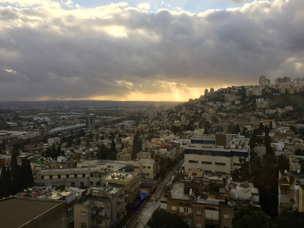 The view from our hotel in Haifa.