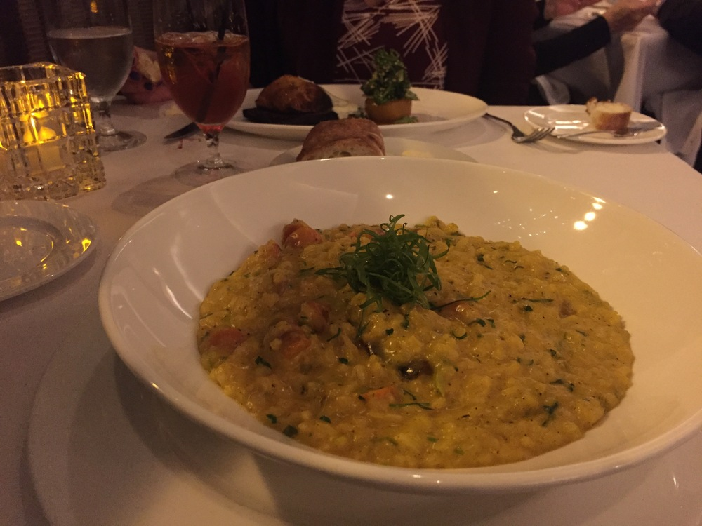 Carrot risotto at the Heathman
