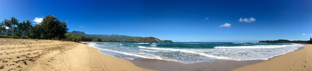 Hanalei Beach.