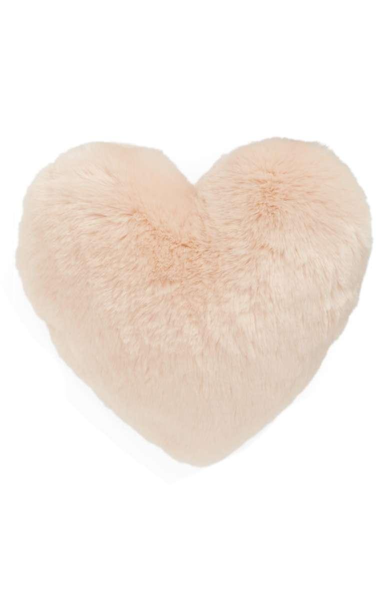 Fur Heart Accent Pillow - $50