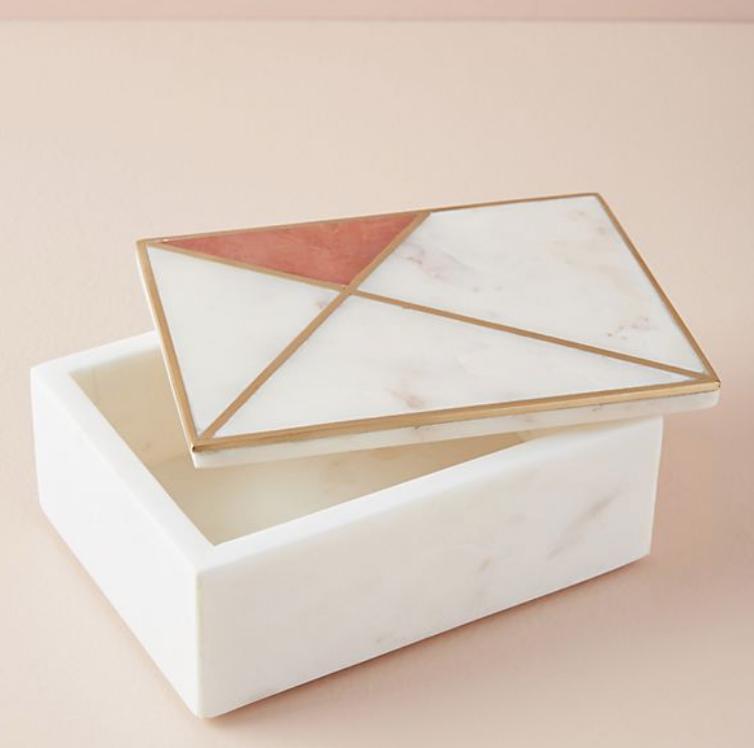 Marble Inlay Jewelry Box - $58
