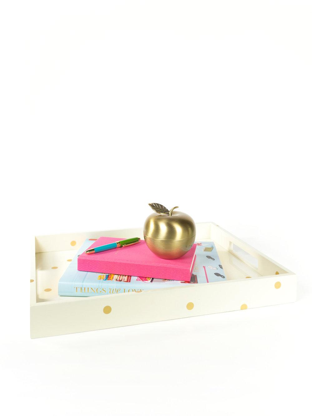 Gold Dot Large Tray - $90