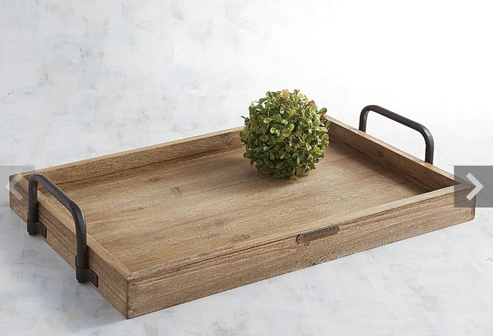 Wood & Metal Breakfast Tray - $49.95