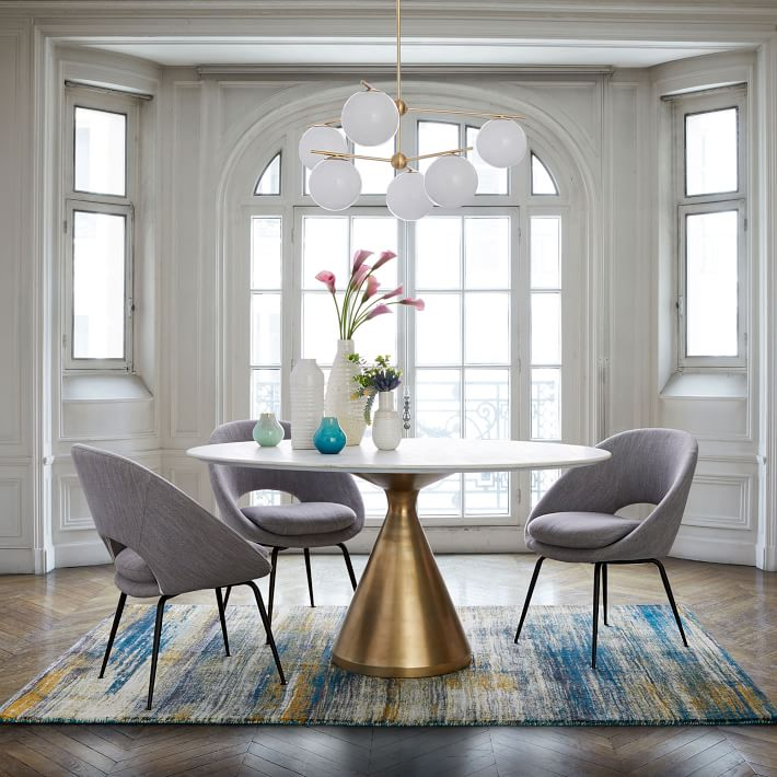Silhouette Pedestal Dining Table - $999 - West Elm