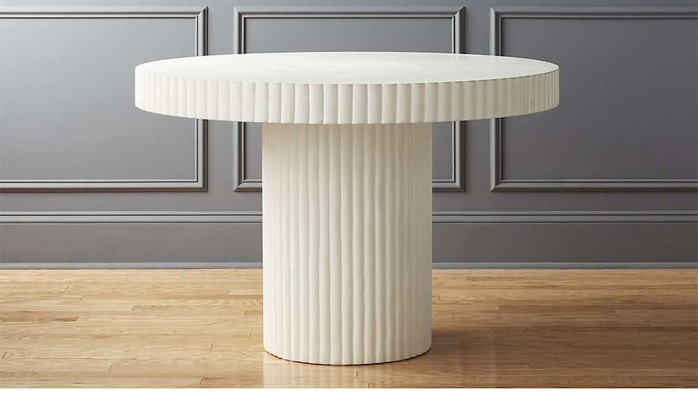 Scallop ivory table - $899 - CB2