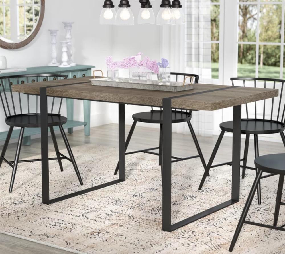 Madelyn Urban Blend Wood Dining Table - $300.99 - Wayfair