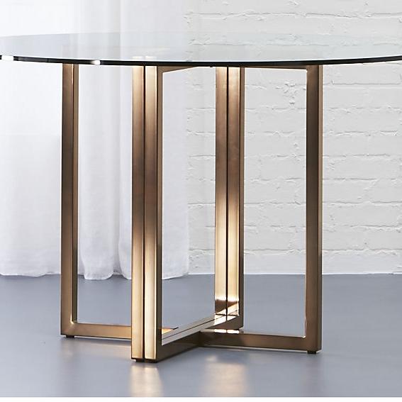 """Silverado brass 47"""" round dining table - $349 - CB2"""