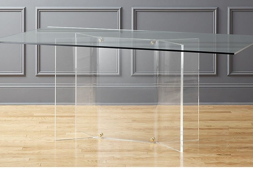 Scarpa glass and acrylic dining table - $999 - CB2