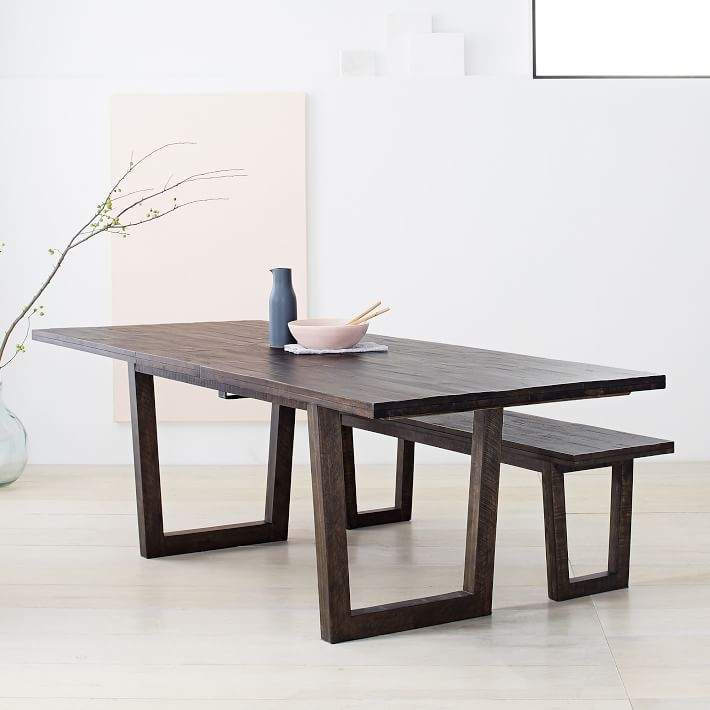 Logan Industrial Expandable Dining Table - $1,099 - West Elm