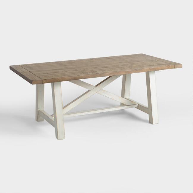 Two Tone Wood Camilla Farmhouse Dining Table - $749.99 - World Market