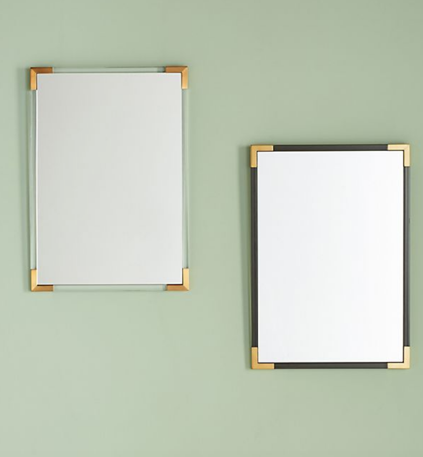 Brass Capped Mirror - $598