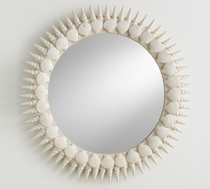 Lily Pulitzer Round Shell Mirror - $249