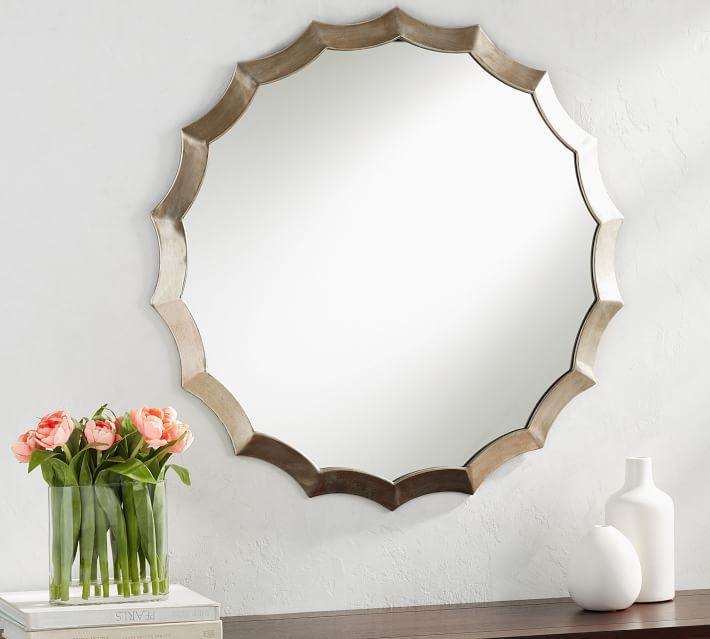 Round Scalloped Mirror - $359