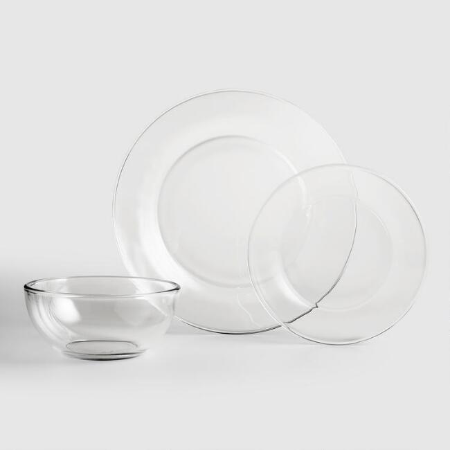 Glass Moderno Dinnerware Set - World Market