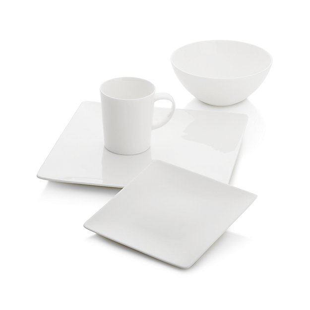 Bennett Square Dinnerware Set - Crate and Barrel