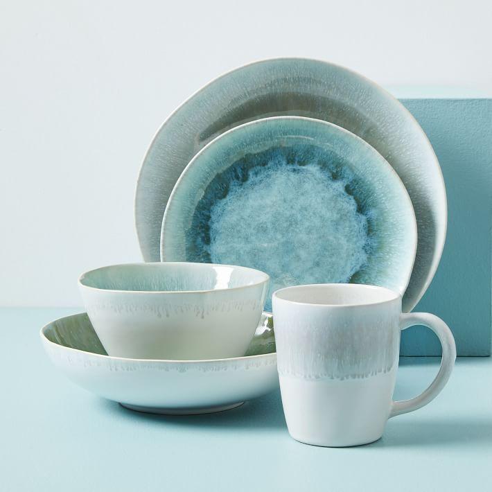 Dusty Mint Reactive Glaze Dinnerware Set - West Elm
