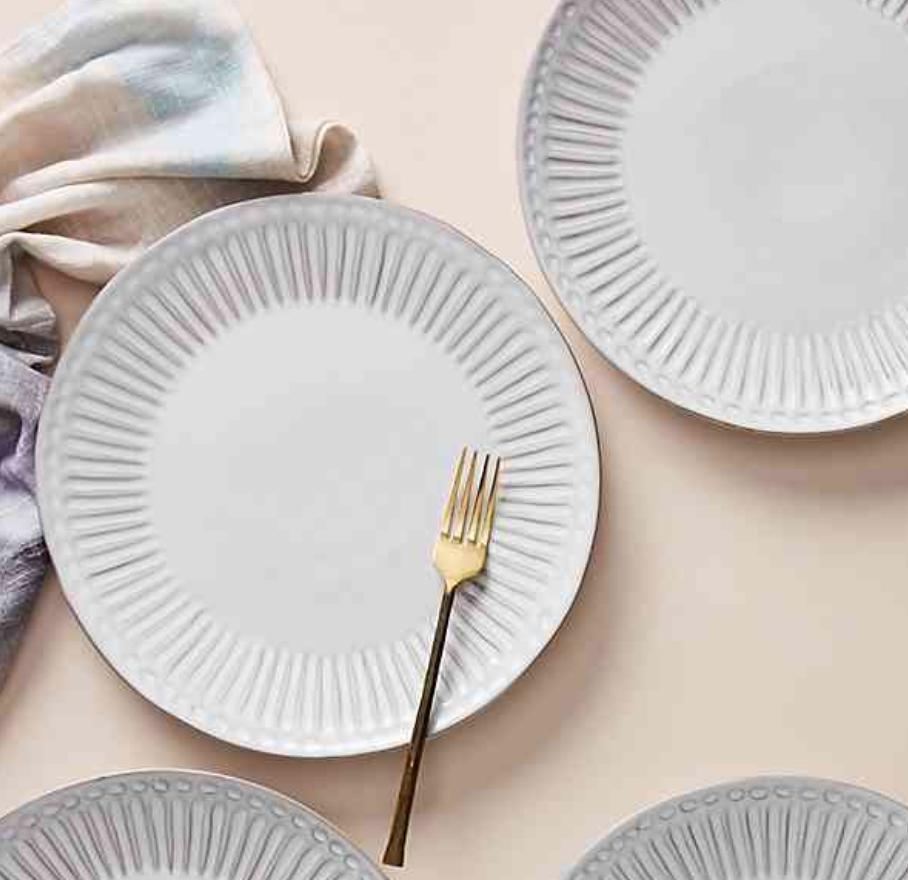 Elana Dinner Plates - Anthropologie
