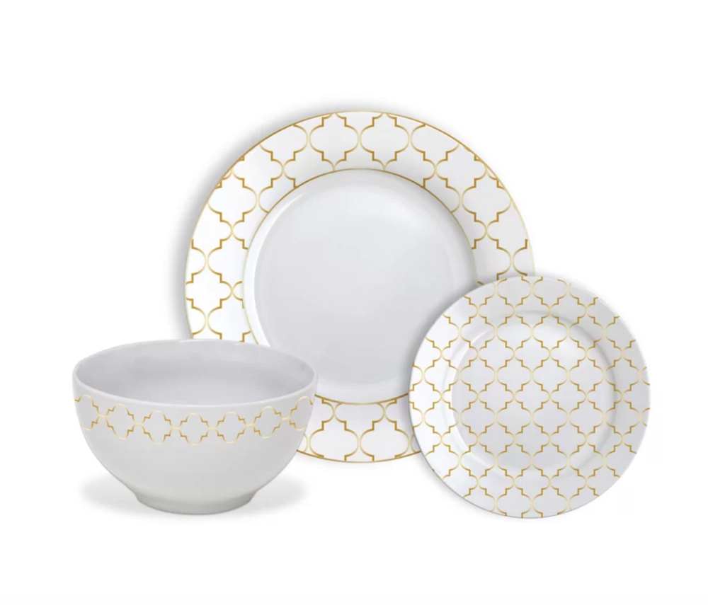 Roque Jacquard Dinnerware Set - Joss and Main