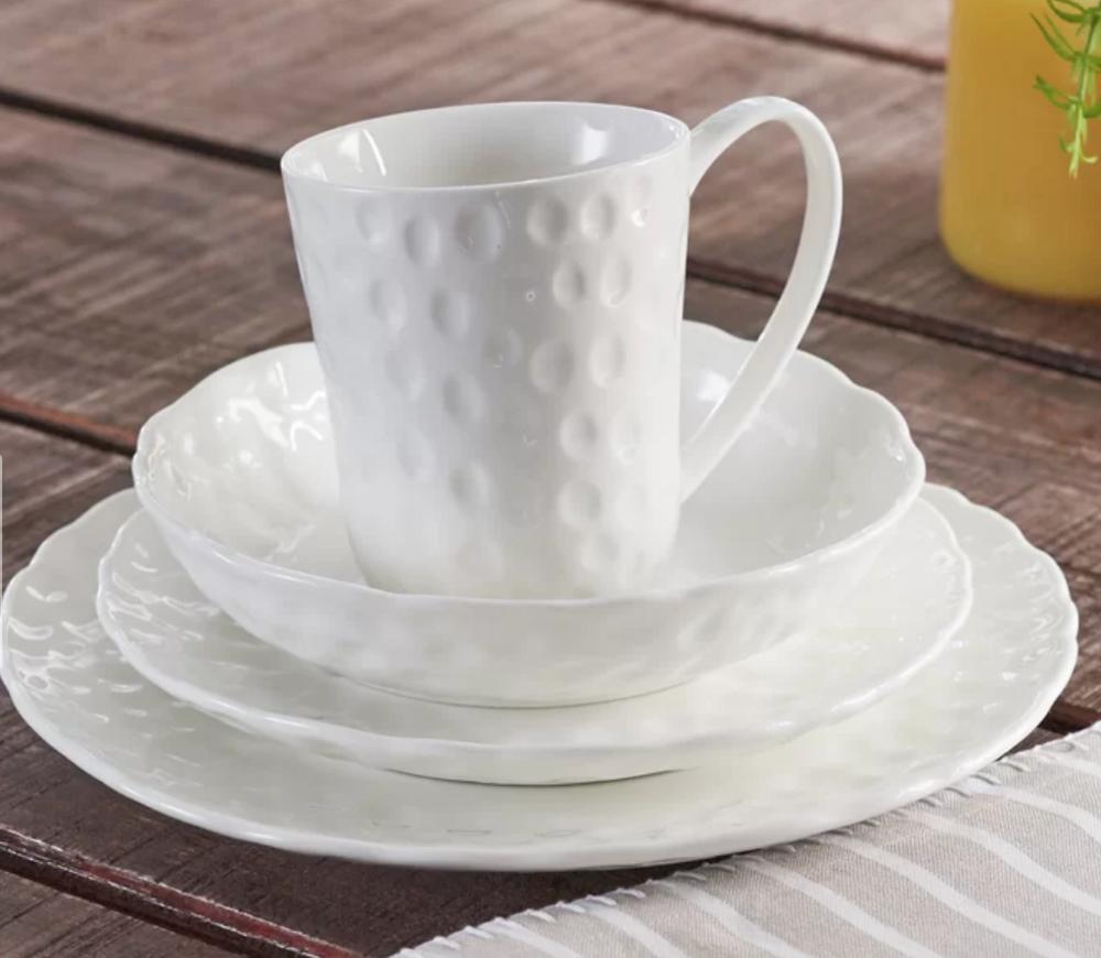 Vanilla Marble Wingfield Dinnerware Set - Joss and Main