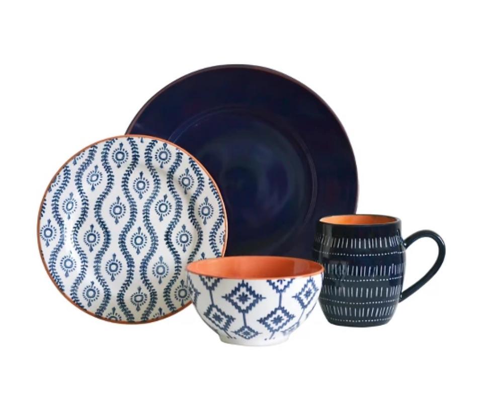 Tangiers Blue Dinnerware Set - Target