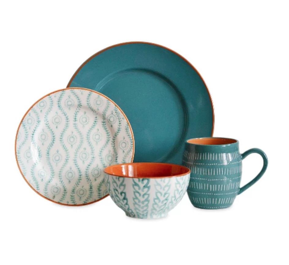 Tangiers Turquoise Dinnerware Set - Target