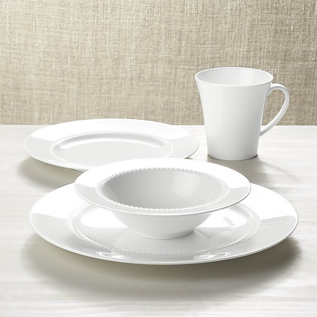 White Pearl Dinnerware Set - Crate and Barrel