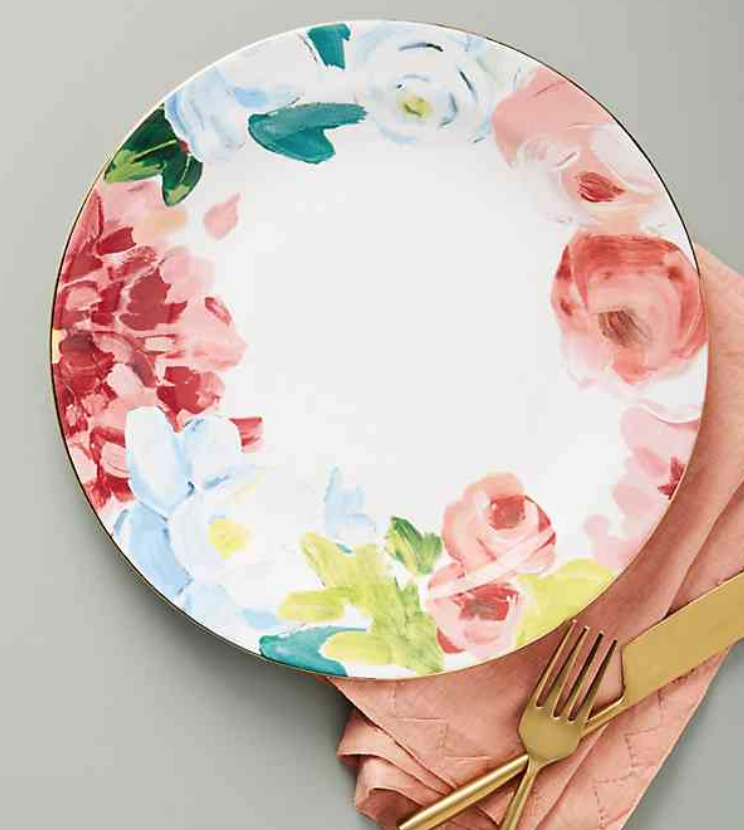 Anais Dinner Plate - Anthropologie