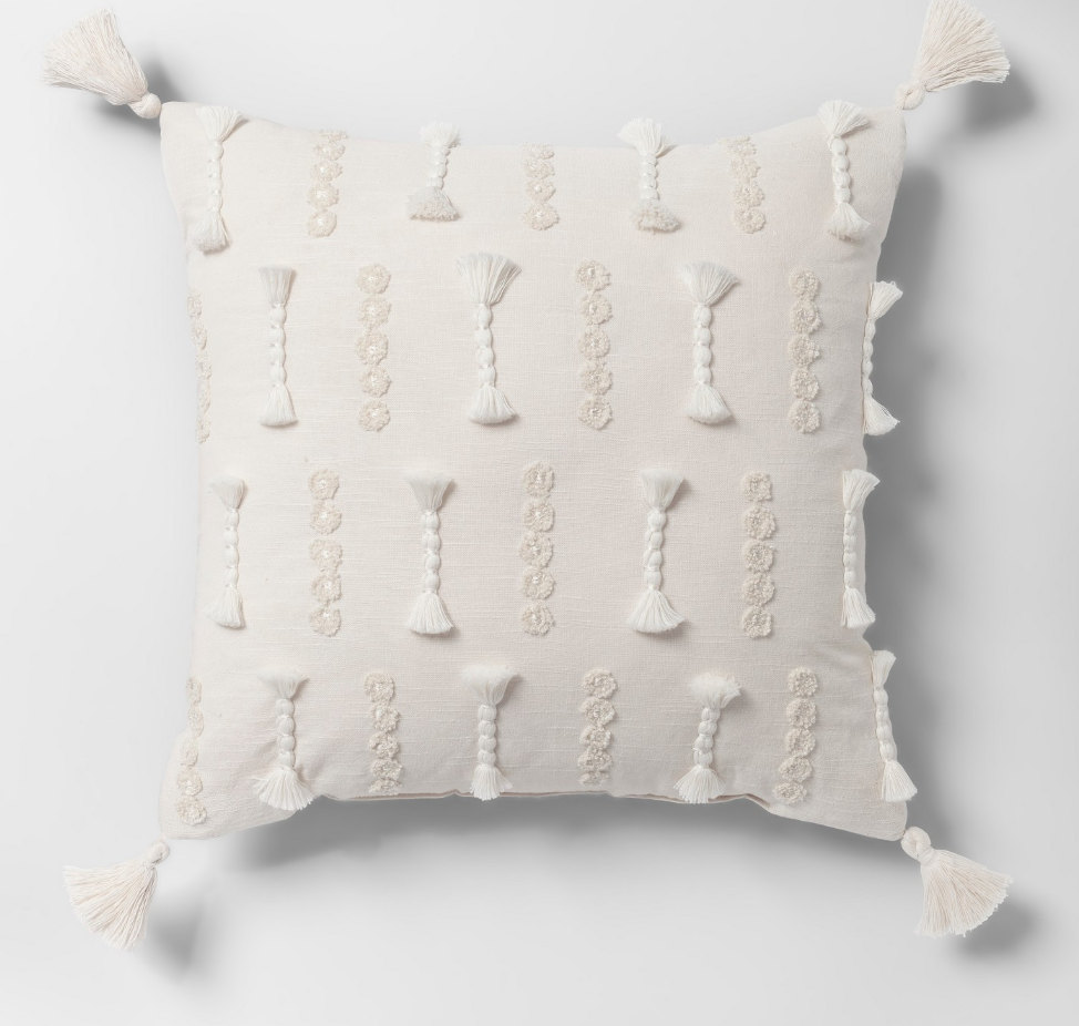 Yarn Applique Throw Pillow - $24.99