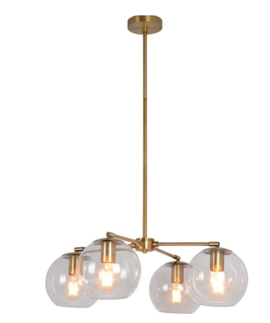 Menlo Four Globe Chandelier - $112.49