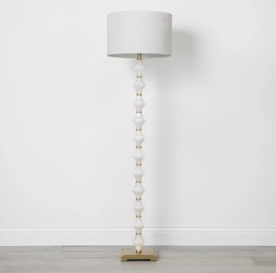 Glass Metal Stacked Floor Lamp - $79.99
