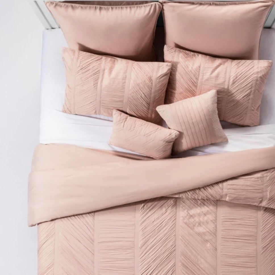 Blush Brielle Ruched Comforter Set - $85.49 for King