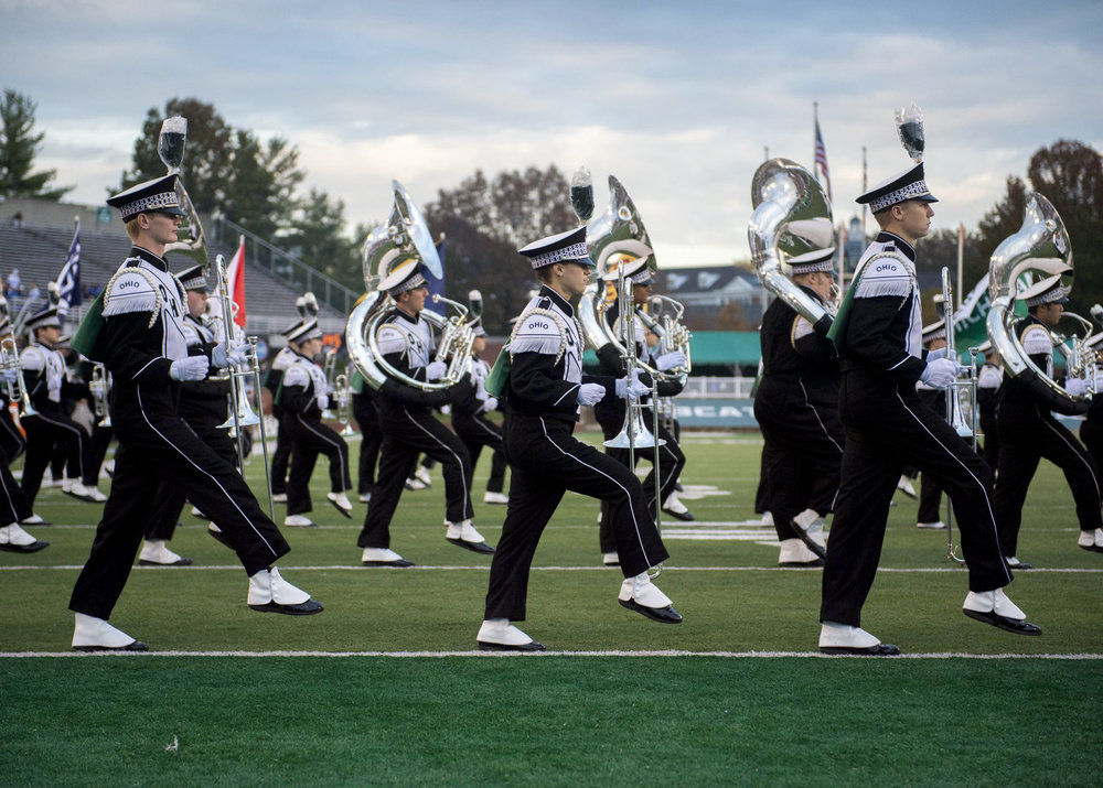 All of the preparation for game day comes full circle when the band drives onto the field during their pregame show.