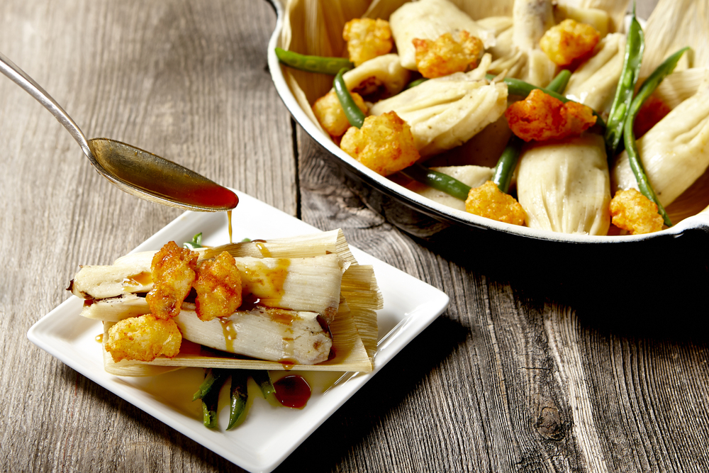 Seafood Tamale with Haricot Vert