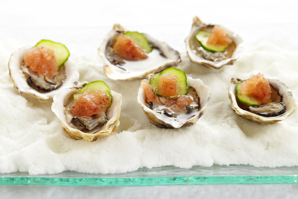 Kusshi Oysters, Mignonette Snow