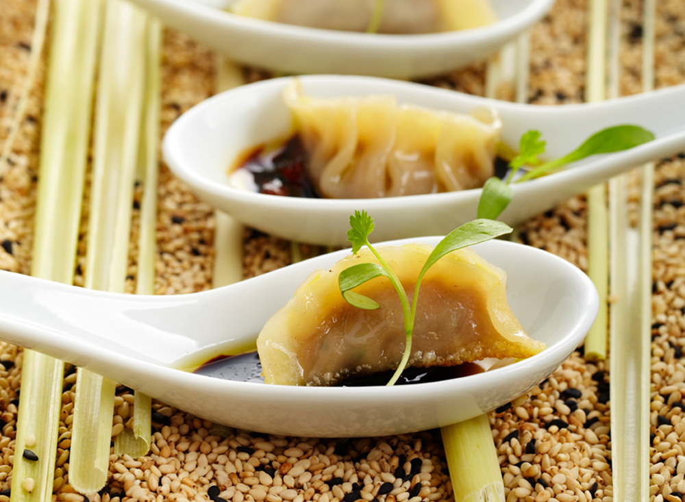 BBQ Pork Belly Dumplings