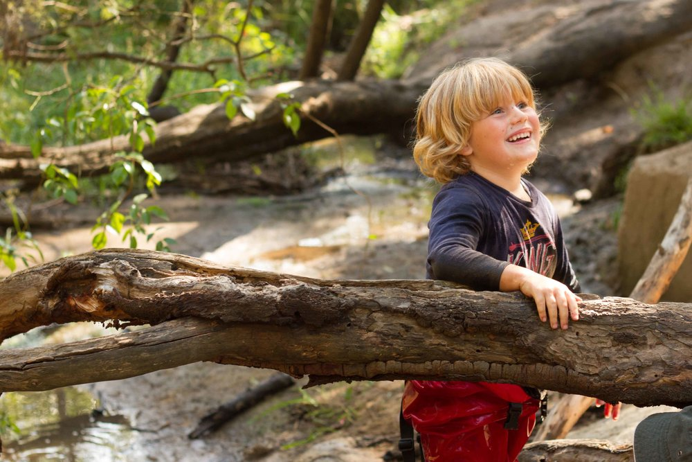 Fun at the creek happens throughout the year. Rain, hail, or shine