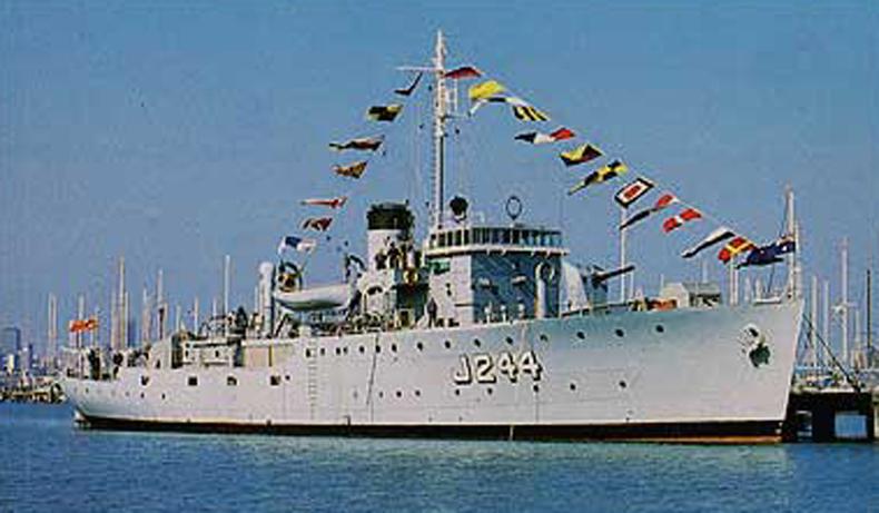 HMAS Castlemaine at Gem Pier, Williamstown. Photo: Peter Williams
