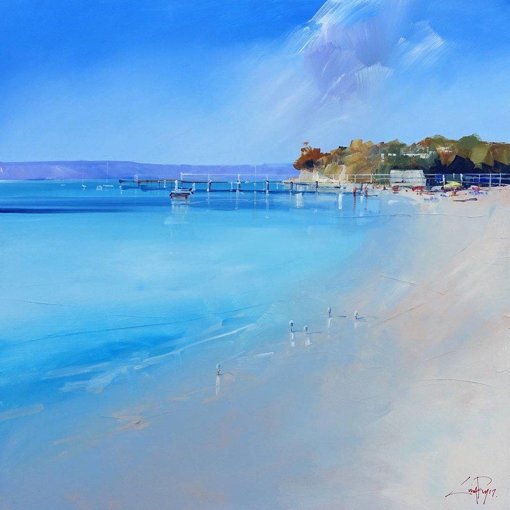 Craig Penny's Gulls at Sullivans Bay (92 x 92 acrylic on canvas)